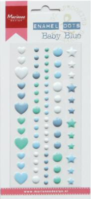 Enamel stickers - Baby Blue
