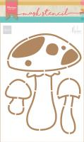 Craft stencil: Mushrooms by Marleen