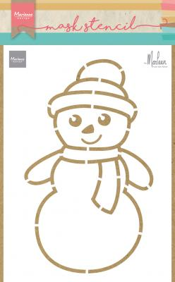 Craft stencil: Snowman by Marleen