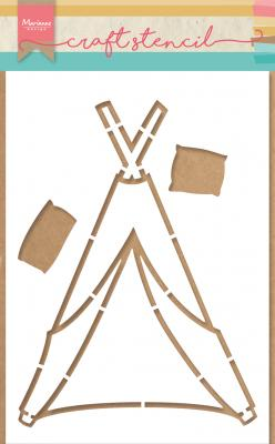 Craft stencils: Tipi by Marleen