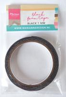 Black foam tape - 1 mm