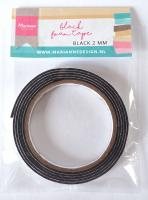 Black foam tape - 2 mm